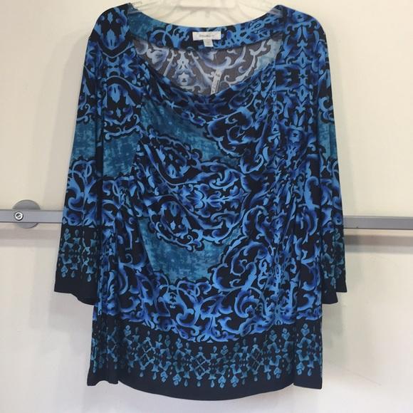 06994edc2c Women plus size 3 4 sleeve print top